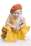 Fun little girl grimacing. Stock Photography