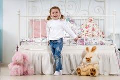 Fun Little girl royalty free stock photos