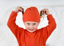 Fun Little girl Stock Image