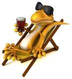 Fun lizard stock illustration
