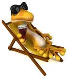 Fun lizard vector illustration