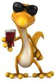 Fun lizard royalty free illustration