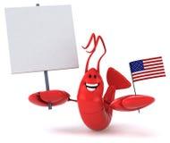 Fun lobster Stock Photo