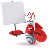 Fun lobster Royalty Free Stock Image