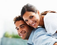 Fun-loving couple enjoying life Royalty Free Stock Photo