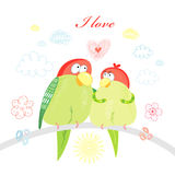 Fun loving parrots Royalty Free Stock Photos