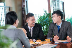 Fun at lunch Royalty Free Stock Photography