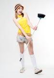 Fun maid Stock Photos