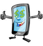 Fun mobile cartoon Royalty Free Stock Photography