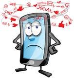 Fun mobile social cartoon Royalty Free Stock Photography