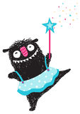 Fun Monster Dancing Princess Humorous Cartoon for Kids Royalty Free Stock Photos