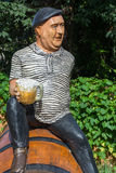 Fun monument actor Yevgeny Morgunov in Sochi. Stock Photo