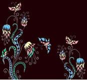 Fun mosaic flowers Stock Photo