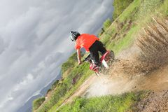 Fun on the motocross bike Stock Image
