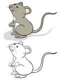 Fun mouse. Color and contour Royalty Free Stock Photos