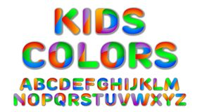 Fun Multi Color Kids Custom Font. Royalty Free Stock Photography