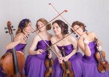 Fun musical quartet Stock Photography