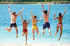 Fun near the lake royalty free stock image