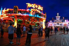 Free Fun Nights On The Pier On The Jersey Shore Royalty Free Stock Photo - 154232165