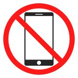 Fun No Phone Icon Stock Photography