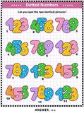 Fun with numbers activity sheet Royalty Free Stock Photos