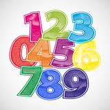 Fun numbers scratched  font Royalty Free Stock Photo