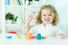 Fun at nursery Royalty Free Stock Photo