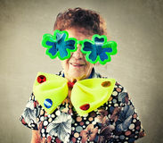 Fun old woman Royalty Free Stock Photography