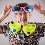 Fun old woman Stock Photo
