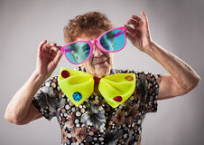 Fun old woman Stock Image