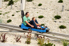 Fun On The Roller Coaster Royalty Free Stock Images