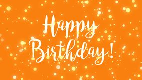Winterbee photographer profile orange happy birthday greeting card video stock video footage m4hsunfo