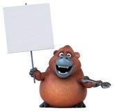 Fun orangoutan - 3D Illustration Royalty Free Stock Photography