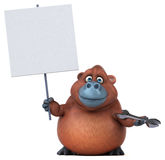 Fun orangoutan - 3D Illustration Royalty Free Stock Images