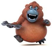 Fun orangoutan - 3D Illustration Royalty Free Stock Photos