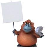 Fun orangoutan - 3D Illustration Stock Photography