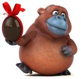Fun orangoutan - 3D Illustration Royalty Free Stock Photo