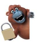Fun orangoutan - 3D Illustration Stock Photo