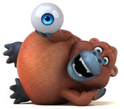 Fun orangoutan - 3D Illustration Royalty Free Stock Image
