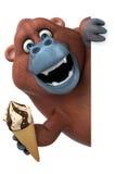 Fun Orangutan - 3D Illustration Stock Photography