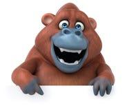 Fun Orangutan - 3D Illustration Stock Photos