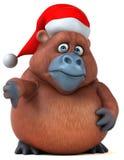 Fun Orangutan - 3D Illustration Royalty Free Stock Image
