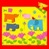 Fun origami Stock Photo