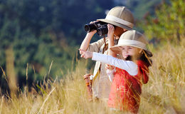 Fun outdoor children playing stock photo