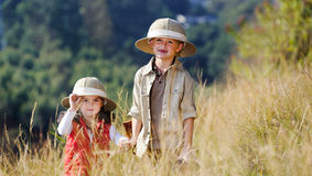 Fun outdoor children playing royalty free stock photography