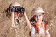 Fun outdoor children playing Stock Photos