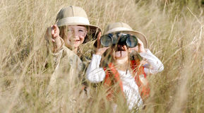 Fun outdoor children playing royalty free stock photo