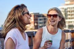 Fun outdoor women stock photos