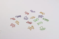 Fun of the paper clip Stock Images