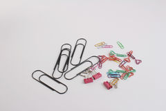Fun of the paper clip Royalty Free Stock Image
